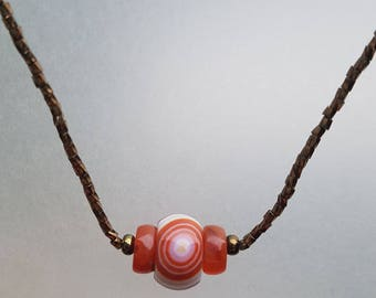 Carnelian Agate Necklace - Creativity & Courage!