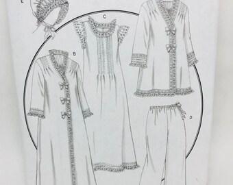 Uncut, Large XL Butterick Rachel Wallis Making History Sewing Pattern, Misses Jacket, Robe, Nightgown, Pajama Pants, Nightcap Hat, Designer