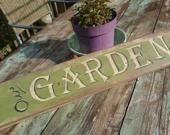 Personalised Our Garden Wall sign Welcome sign Vintage style Retro