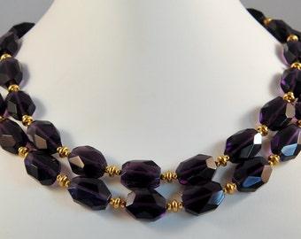 Nugget Amethyst Quartz Necklace