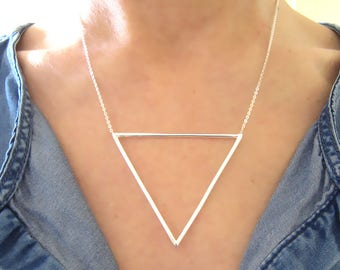 Necklace big triangle in Silver 925/1000