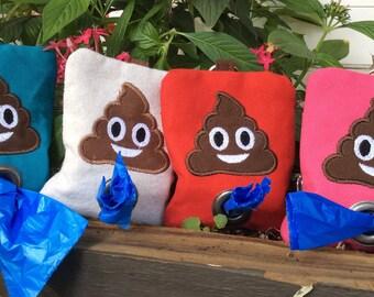 Poop bag dispenser-poop emoji gift-new puppy gift-dog mom gift-dog stocking stuffer-new dog gift-dog lovers gift-dog birthday gift
