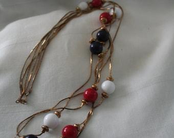 Americana 1970s Metal Necklace