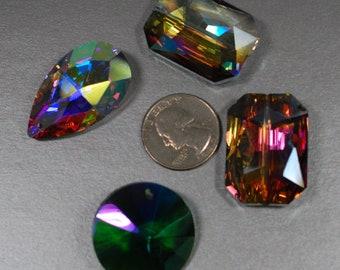 Crystal Rainbow Pendant Beads
