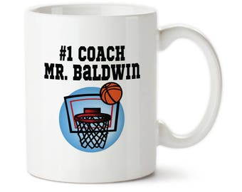 Number One Coach, Personalized Coach Mug, Gift For Basketball Coach, Best Coach Ever, Coach Cup, Basketball coach mug, Basketball, coach