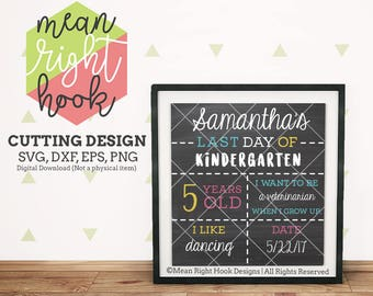 Last Day of School Sign svg, Stat board svg, Back to school svg, School sign svg, INSTANT DOWNLOAD for cutting machines - svg, png, dxf, eps