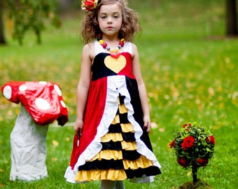 Queen of Hearts - Everyday Princess Dress - Character Inspired Dress - 12mo through 7