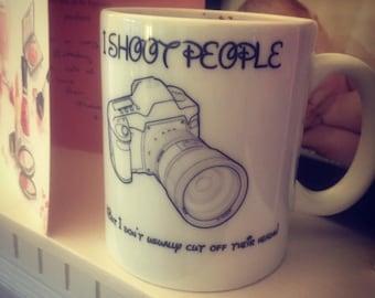 I shoot people! Photographers mug!