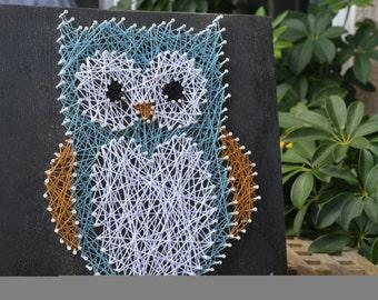 Adorable String Art Owl