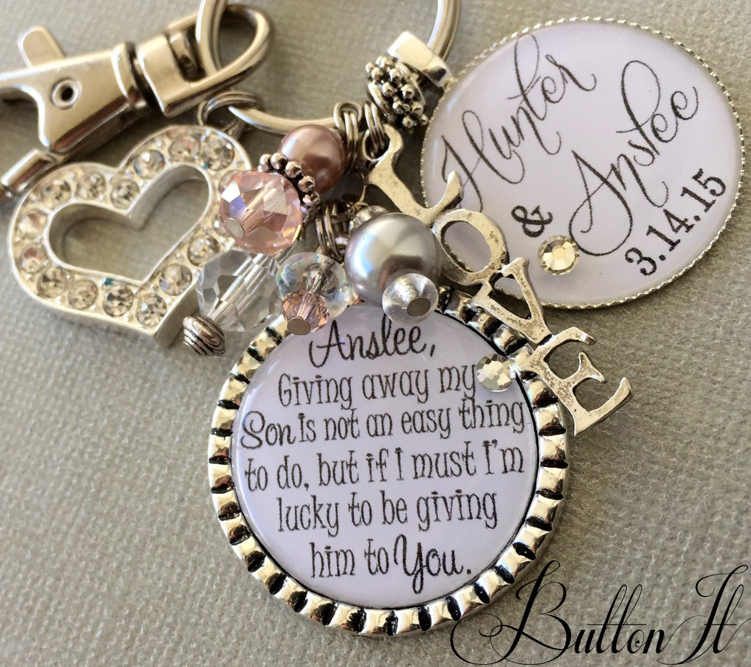 Wedding Gift For Bride From Mother: Future Daughter In Law Gift Wedding Bouquet Charm Giving