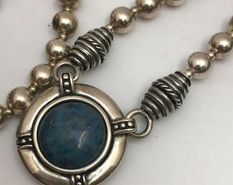 Mod Modern Sterling Silver Necklace .  High End Designer Jewelry
