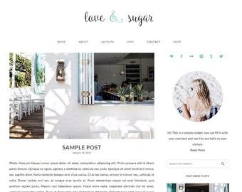 Responsive WordPress Theme - Genesis Child Theme - Love & Sugar Theme - WordPress Blog Theme - Feminine WordPress Theme