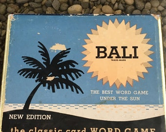 Vintage Word Card Game Bali