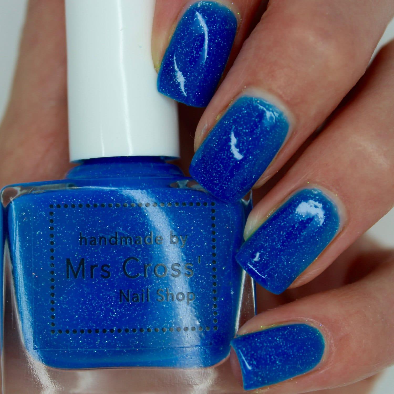 Neon Blue Nail Polish: Mullet 5-10ml Bright Blue Nail Polish Neon Nail Polish