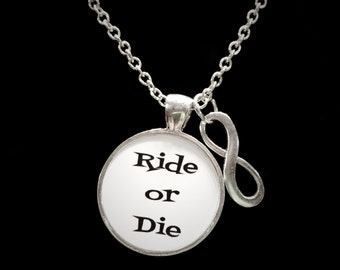 Best Friend Gift, Ride Or Die Best Friends Necklace, Forever Necklace