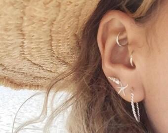 Ocean addiction silver earrings trio