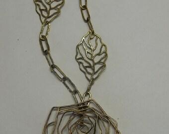 "necklace pendant""rose flower"""