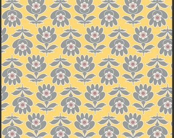 1 Yard of Floresta Gris Yellow from the Art Gallery Floressence Collection