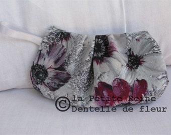 case, toilet bag model Flower lace