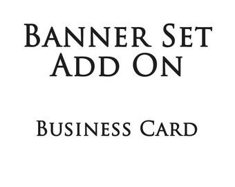 Shop banner set add on business card