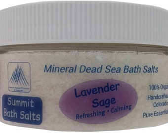 Lavender Sage Bath Salts (8oz)
