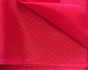 Synthetic Lining Fabric / Lining Fabric / Christmas Red Fabric / Red Lining Fabric / Red Acetate Fabric