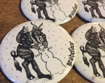 "Graveface Krampus 2 1/4"" Button"