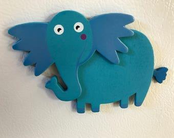 Blue Elephant Magnet