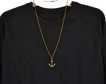 Anchor Necklace, Man's Necklace, Men's Necklace, Anchor Pendant Necklace, Mans Anchor Necklace, Gifts for Men