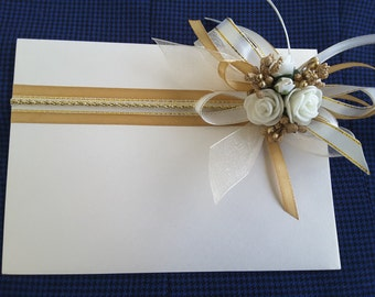 Handmade envelope, greetings card for cash, checks, vouchers and special wishes.