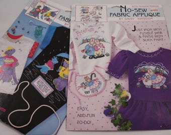 2 Daisy Kingdom Applique Sets - Meadow Friends and Dinosaur Friends
