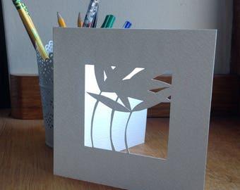 Bamboo Leaves Window Card