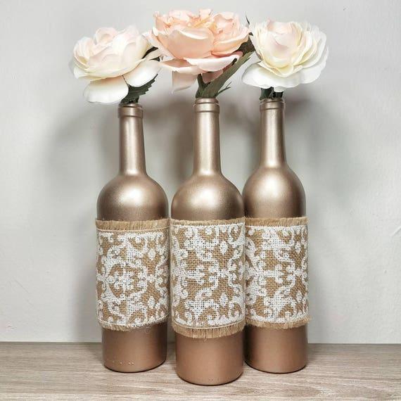 wine bottle decor wine bottles decorated wine bottle vase. Black Bedroom Furniture Sets. Home Design Ideas