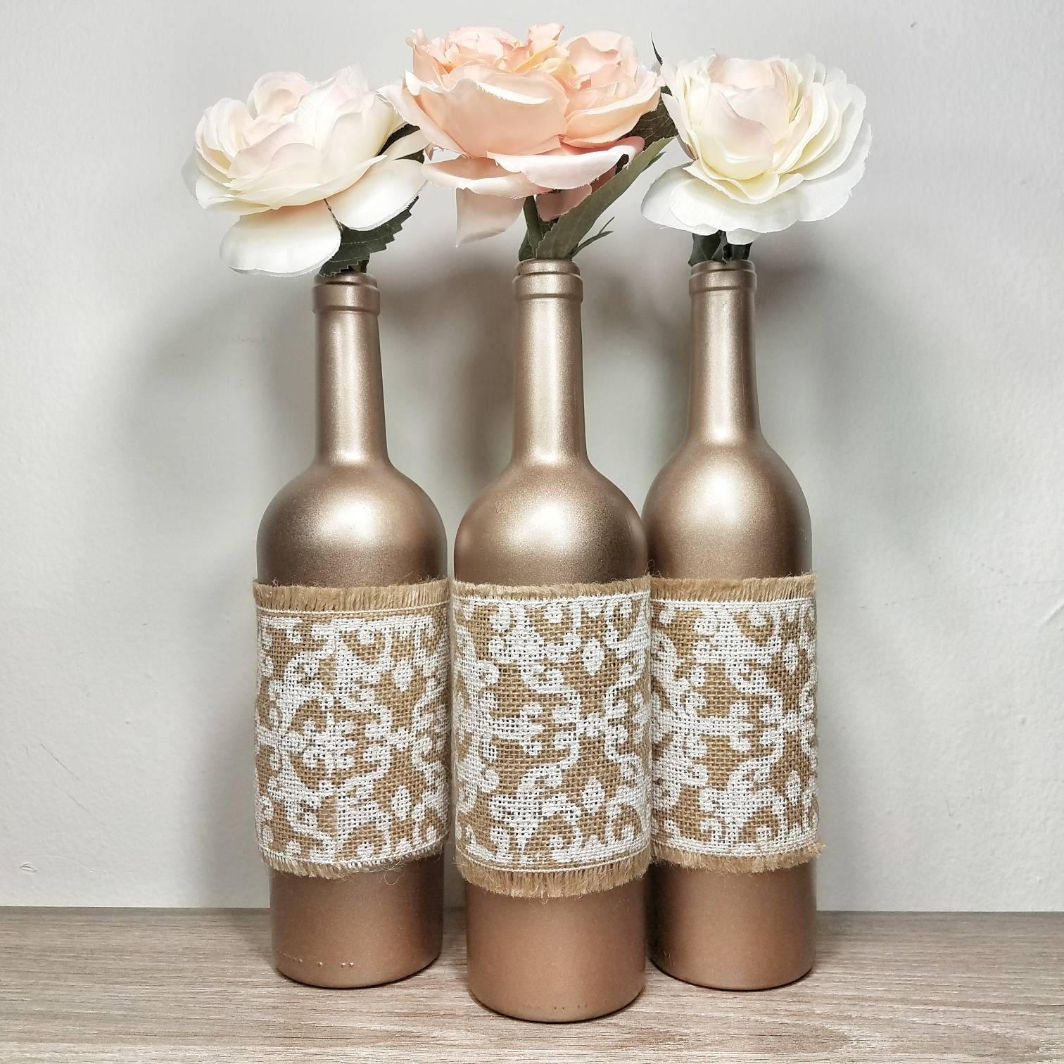 Wine Bottle Home Decor: Wine Bottle Decor Wine Bottles Decorated Wine Bottle Vase