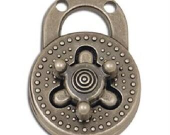 Turn-Lock Bag Clasp Antique Nickel Finish 1307-01