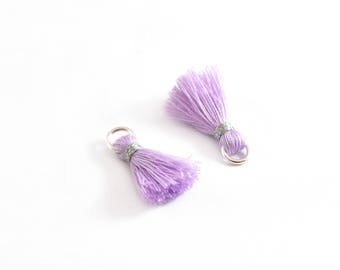 Small PomPoms 2 cm set of 2 Purple P133 FM