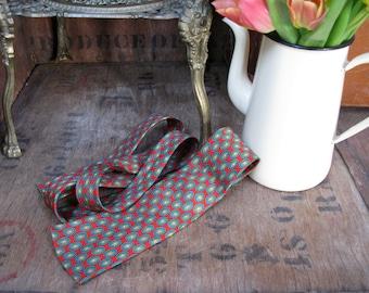 Pierre Cardin Tie, Cardin Takashimaya, Rare Tie, Geometric Necktie, Vintage Tie, Designer Tie, 1960s, 1960s Fashion, Vintage Pierre Cardin
