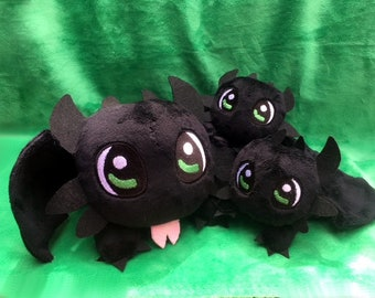 Chibi Cute Toothless Dragon Plushie