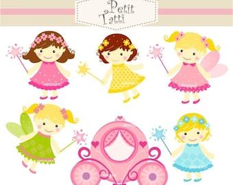 ON SALE fairy baby girl clip art - baby girls clip art clipart, instant download Digital clip art, fairies fairies