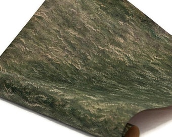 Hand-Marbled Paper Imported From Italy - Fine Combed - Greens