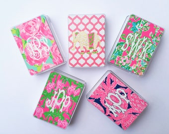 Preppy Monogrammed Playing Cards