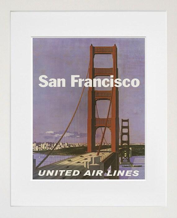 San Francisco Retro Poster Travel Art Home Decor Print Zt586