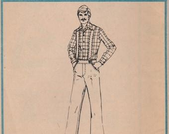 Men's Suspender Pants Pattern McCalls 4384 Size 34 Waist 28 Uncut
