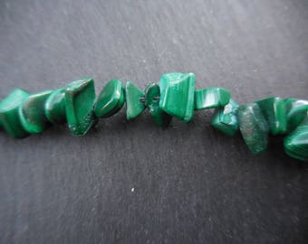 Malachite - 1 yarn of 85 cm Chips 5-12mm Green beads
