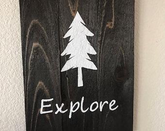 Explore Woodland Wall Sign