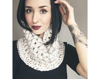 Crochet Puff Stitch Cowl PATTERN