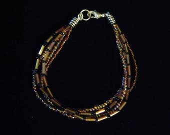 Brown and Black Beaded Jewelry Set
