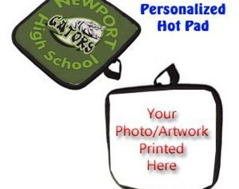 Black White Personalized Hot Pad