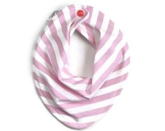 Baby bandana bib, baby bib, bandana bib, scarf bib, baby shower gift, baby girl bib, drool bib, scarf bib, baby girl gift, pink stripe bib