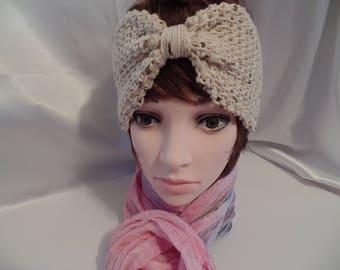 Ear warmer headband,  tunisian crochet ear warmer, earmuffs, head warmer, head wear,  gifts for her, wide headband